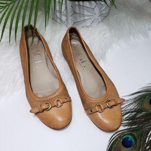 AGL Atillio Guisti Leombruni Ballet Flats Leather